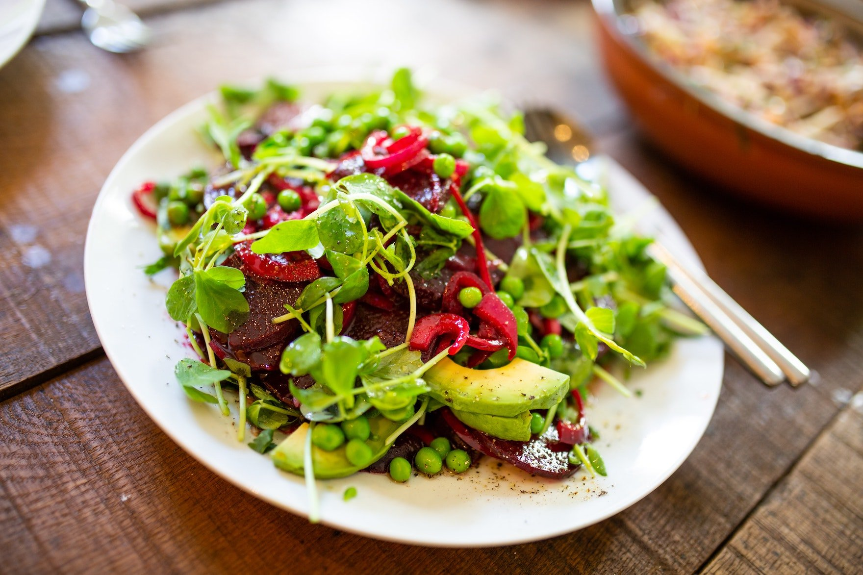 Salad at WildFit nutrition programme with Freya Sherlock