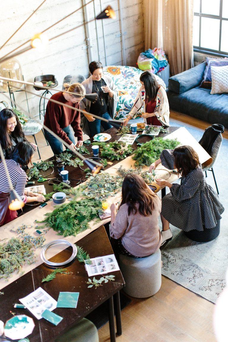 People at a herbs workshop