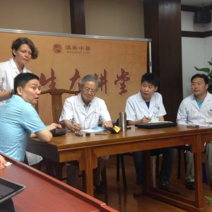 Training with doctors in Beijing hospital